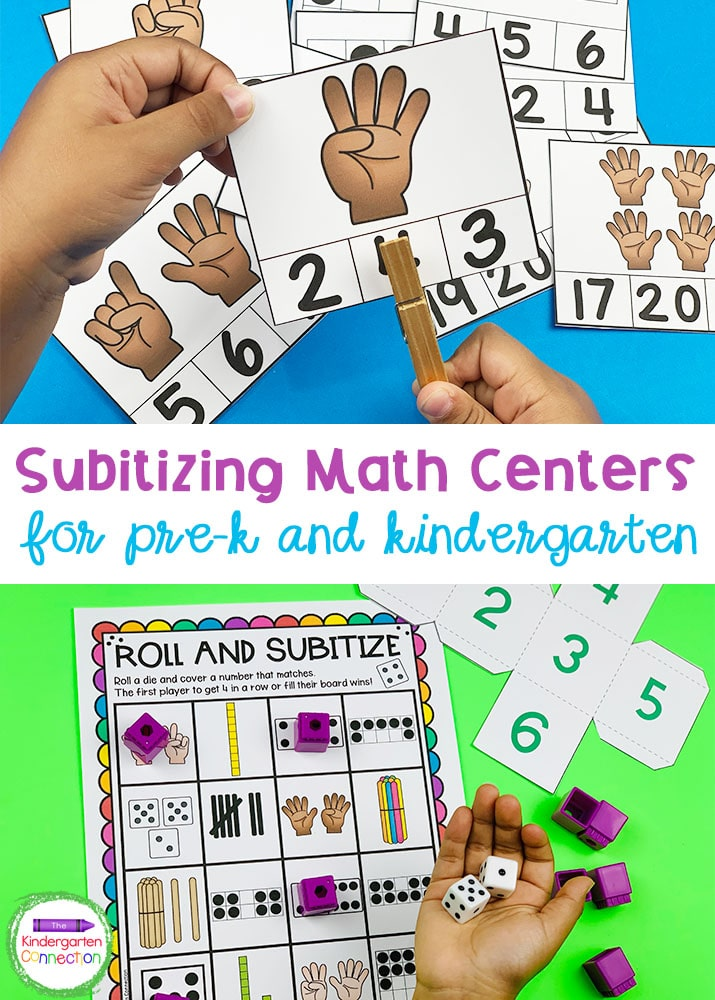 Grab our Subitizing Activities and Centers for Pre-K & Kindergarten to strengthen early counting skills in the classroom!