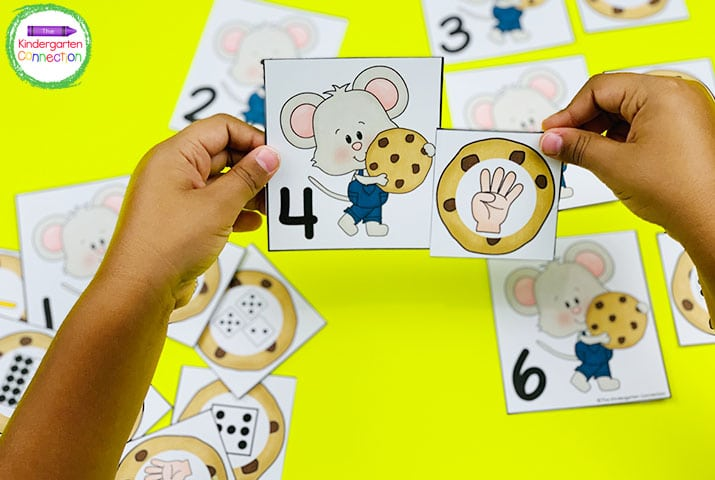 Our Mouse and Cookie Match is a fun twist on a traditional memory matching game.