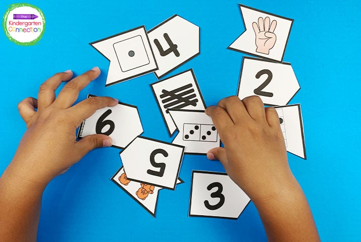 The subitizing puzzles are a simple but super fun puzzle matching activity.