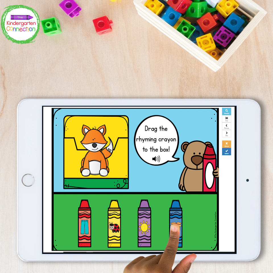 This bundle has games that practice a ton of important literacy skills including rhyming skills.