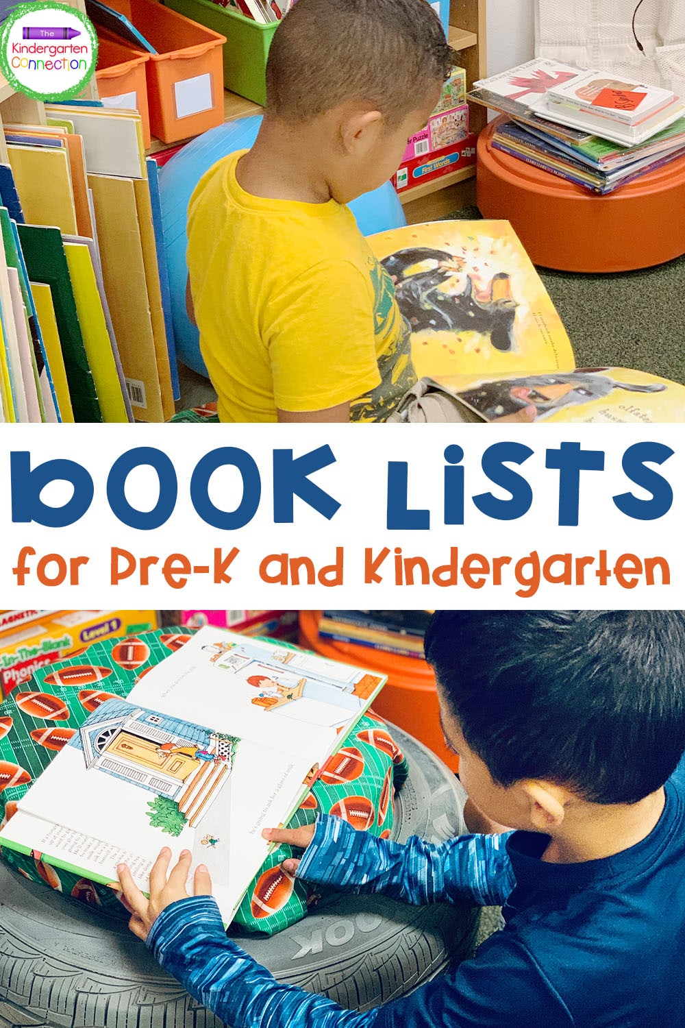 This Mega Book List for Kindergarten is perfect for choosing read alouds for circle time, introducing new topics, or reading just for fun!