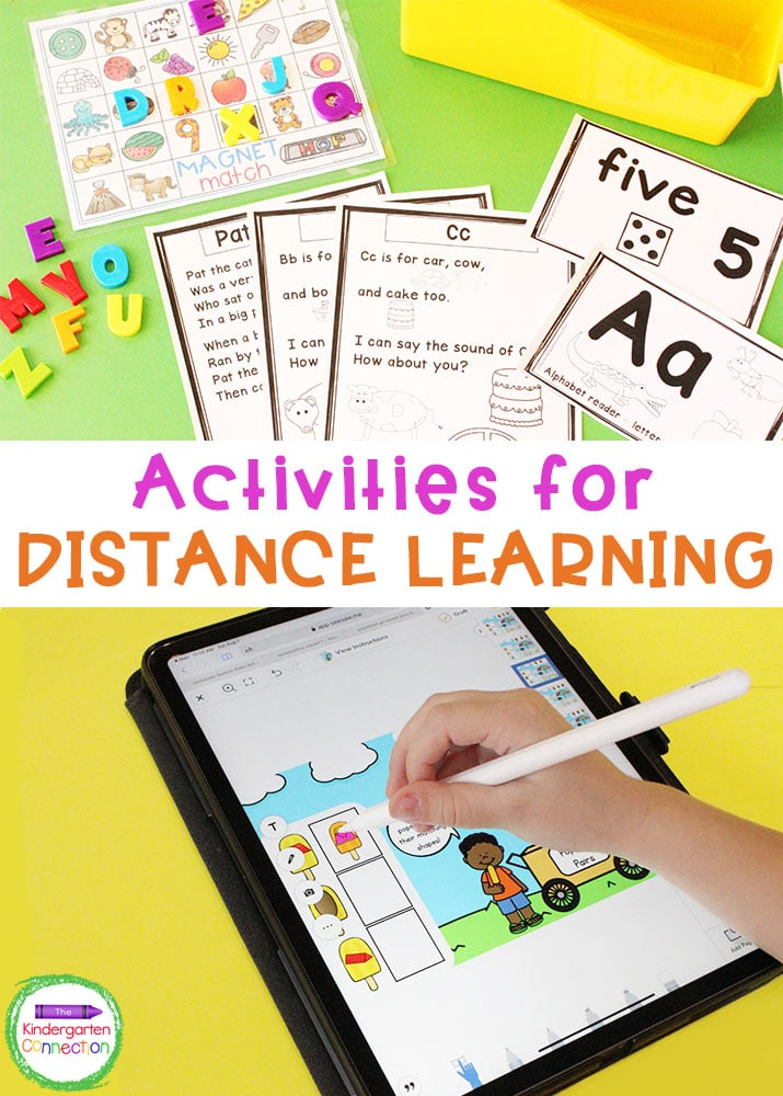 Check out these resources to make your independent centers and activities for distance learning amazing and fruitful in Pre-K & Kindergarten!