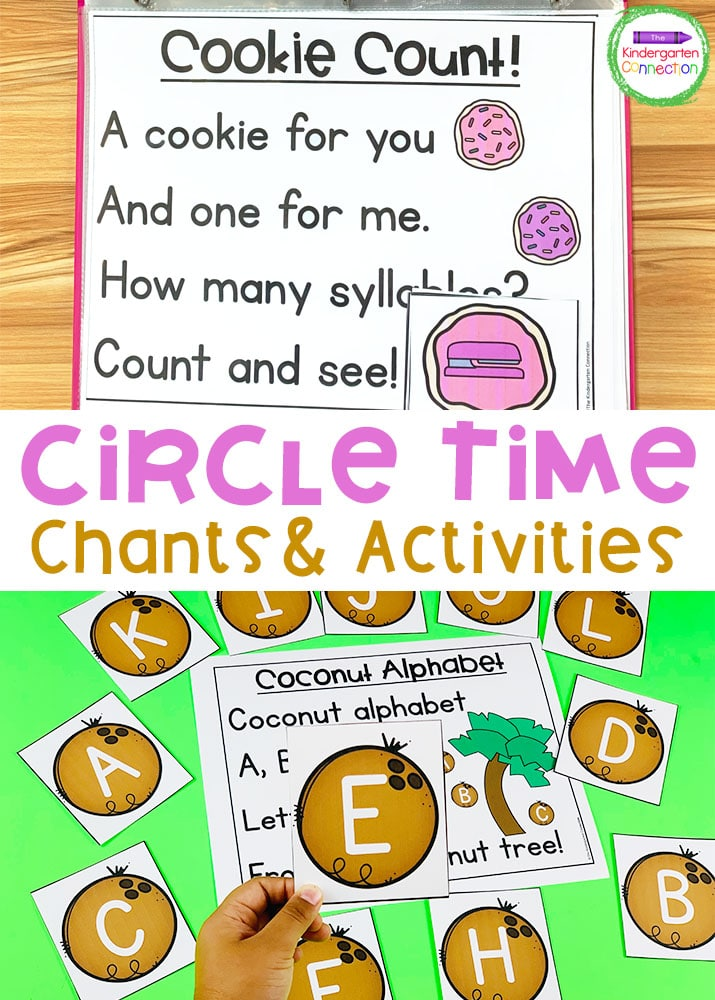 Practice important math and literacy skills with these fun and interactive Pre-K & Kindergarten Chants for Circle Time!