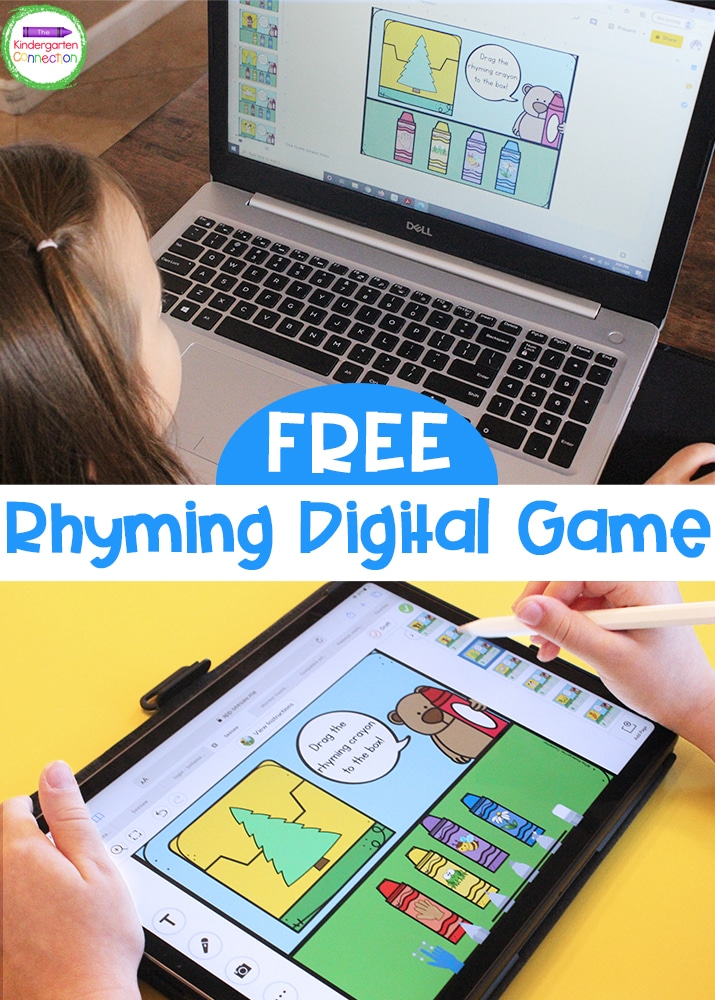 This FREE Crayon Box Rhymes Digital Literacy Game is an engaging and super fun activity that your Pre-K and Kindergarten students will love!