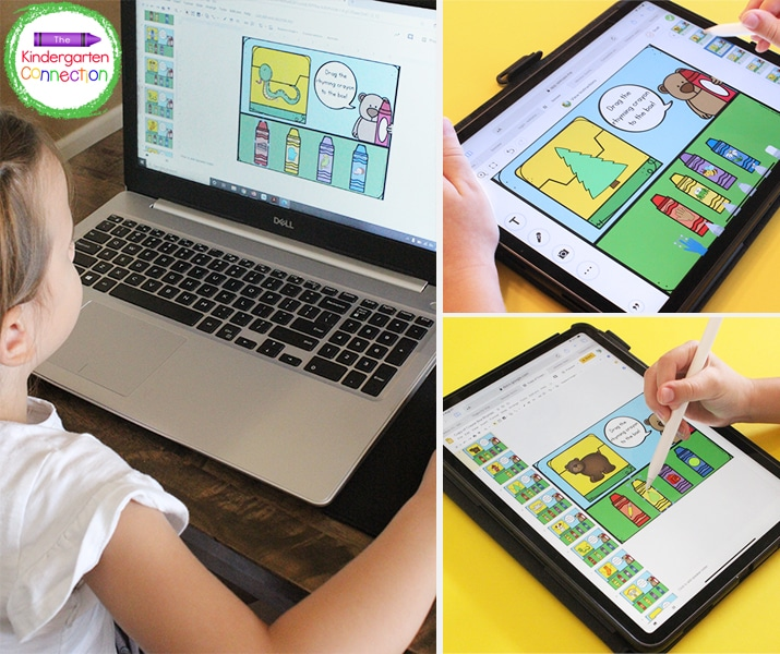 This crayon box rhyming game is super fun on both tablets and computers.