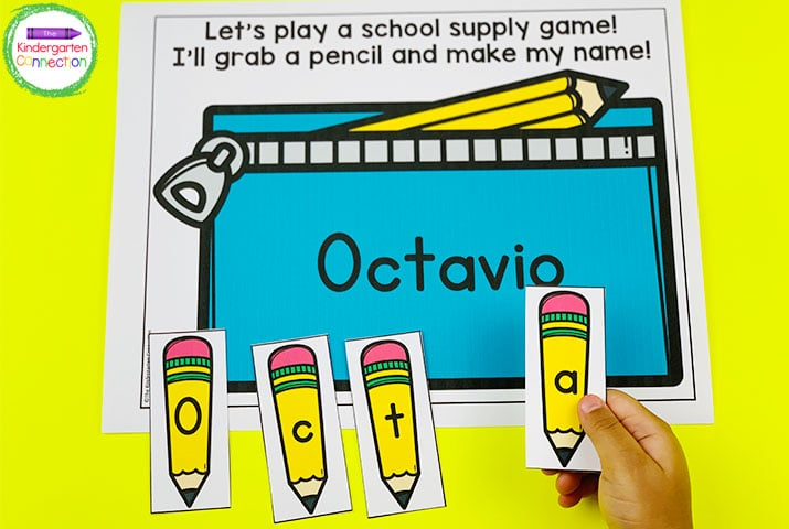 Your students will be so excited that their names will be built in to all of these games like this pencil pouch activity.
