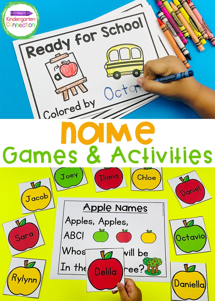 This Pre-K and Kindergarten Name Games & Activities BUNDLE will help your students practice reading and writing their names all year long!