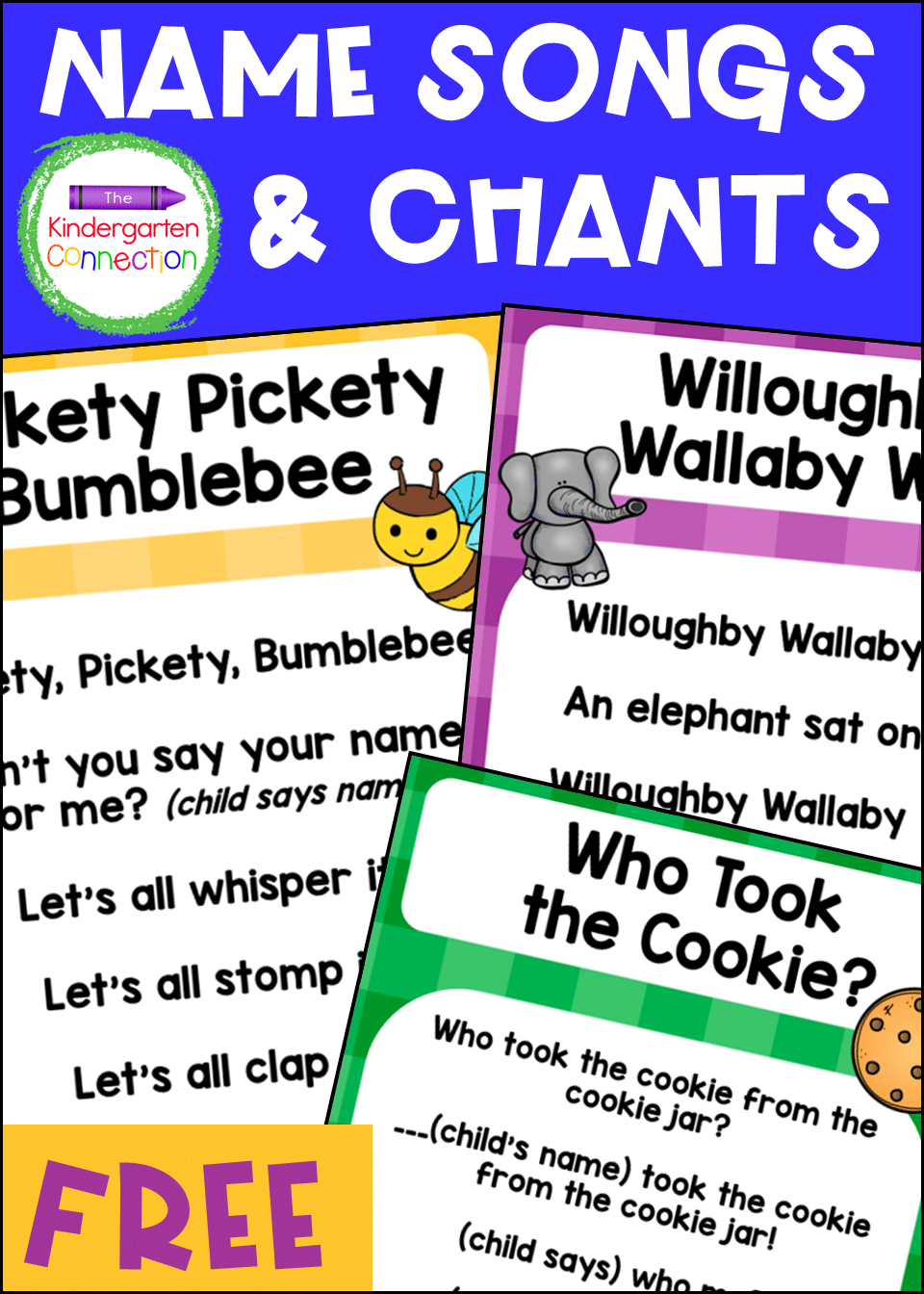 These FREE Name Chants and Songs for Pre-K & Kindergarten are sure to have your students excited to practice important skills like rhyming!