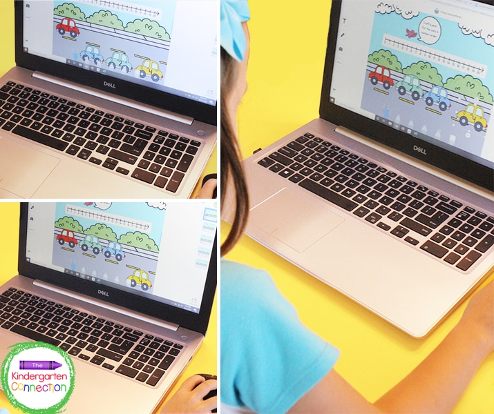 This digital game is great for any time of year that you want to work on counting and number order.