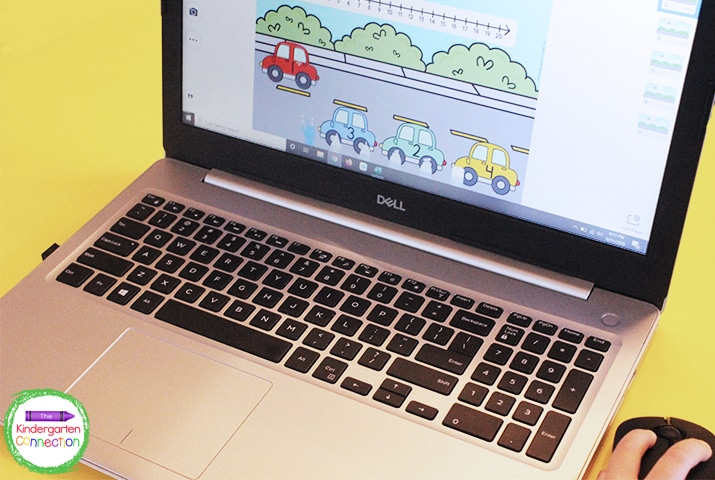 This digital math game for Pre-K & Kindergarten works on ordering numbers from 1-20.