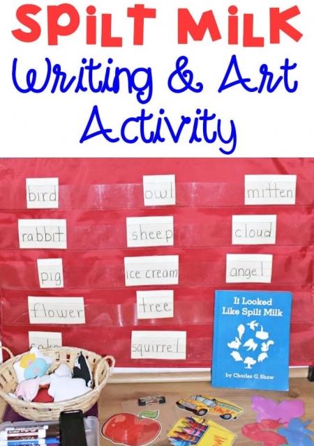 Spilt Milk Writing and Art Activity