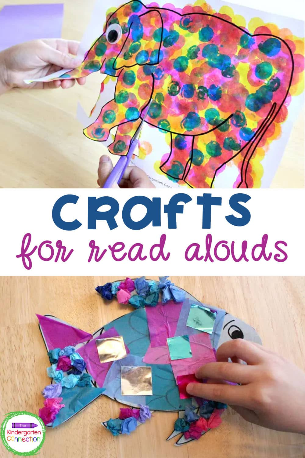 These fun and simple Crafts and Read Alouds for Kindergarten will give you a ton of ideas for how to extend story time to center time!