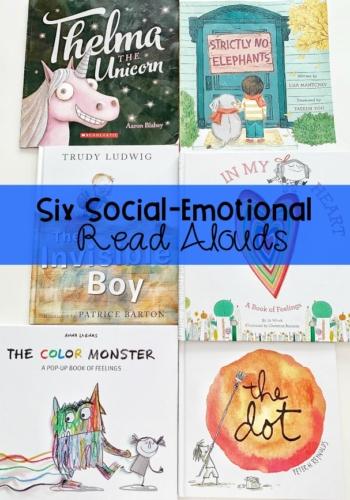Social Emotional Read Alouds Book List for Kindergarten