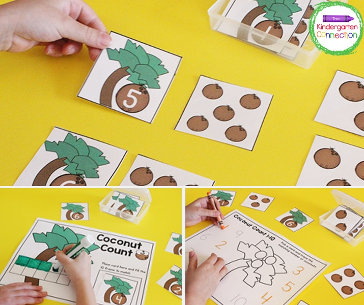 These low-prep math activities for Kindergarten use one set of manipulatives for multiple games.