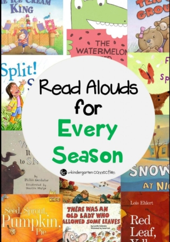 Read Alouds for Every Season Book List for Kindergarten