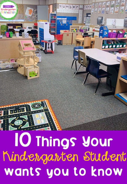 10 Things Your Kindergarten Students Wants You to Know