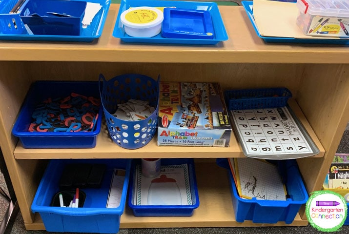Math and literacy centers are an important part of early learning and organization helps keep things flowing smoothly.