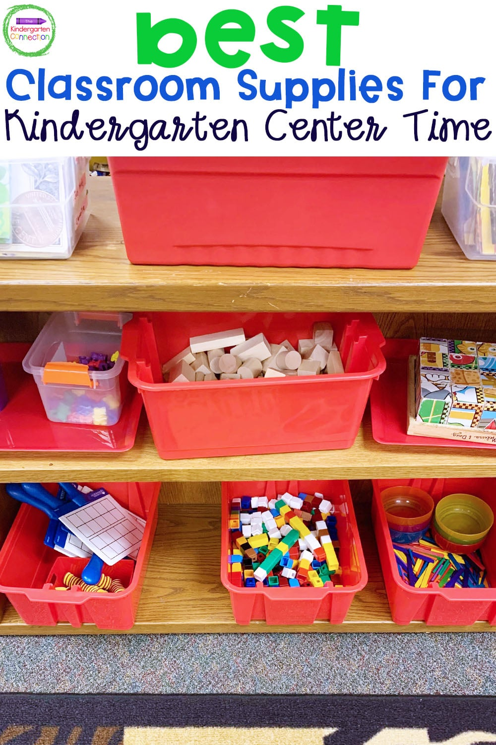 Check out this list of the best classroom supplies for Kindergarten center tIme to help you find success with your math and literacy centers!