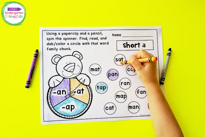 We begin with short a because of the order we teach short vowels, and work on the other vowels as needed.