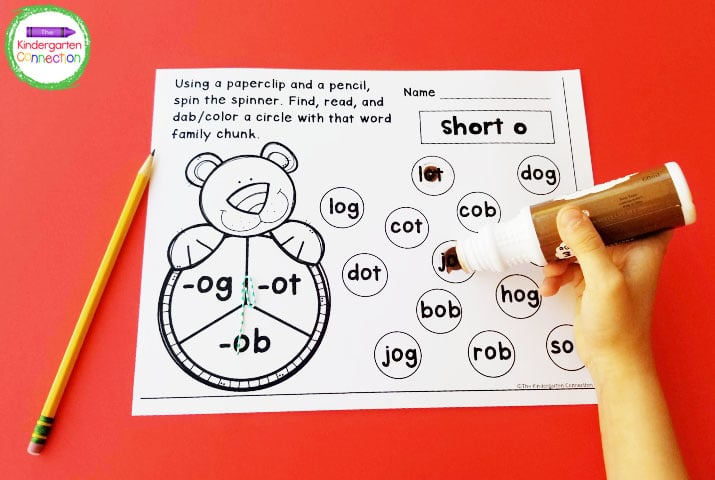 Make these games for CVC word families even more exciting with bingo daubers!