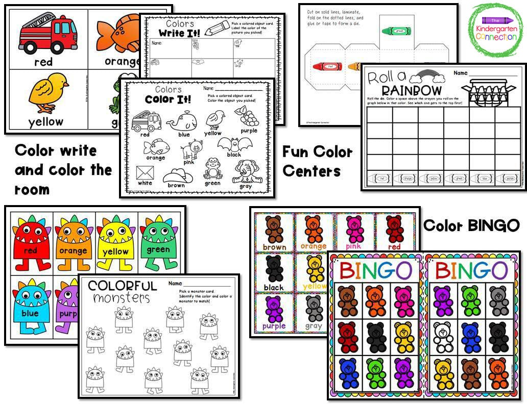 This pack includes both color and black and white copies of the activities.