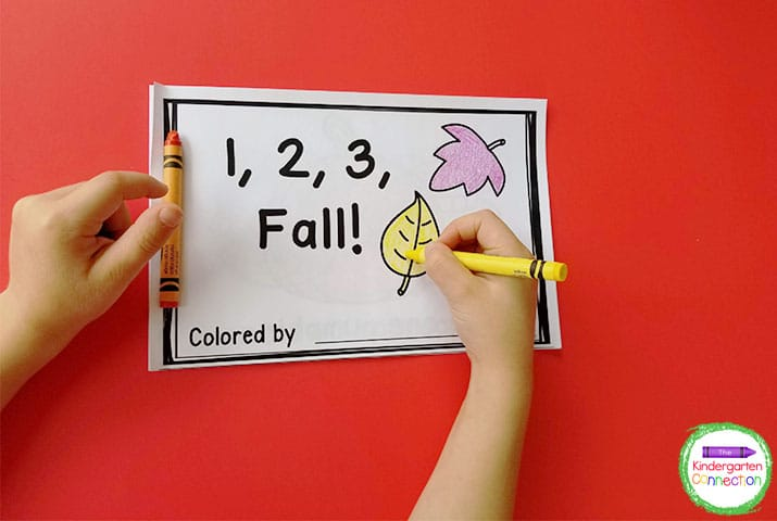 "Practice number words with our ""1, 2, 3, Fall!"" emergent reader!"