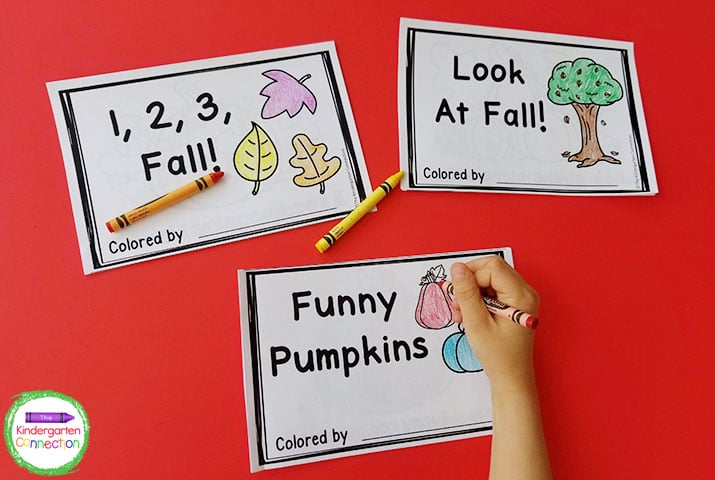 This pack includes 3 low-prep and super fun fall emergent readers.