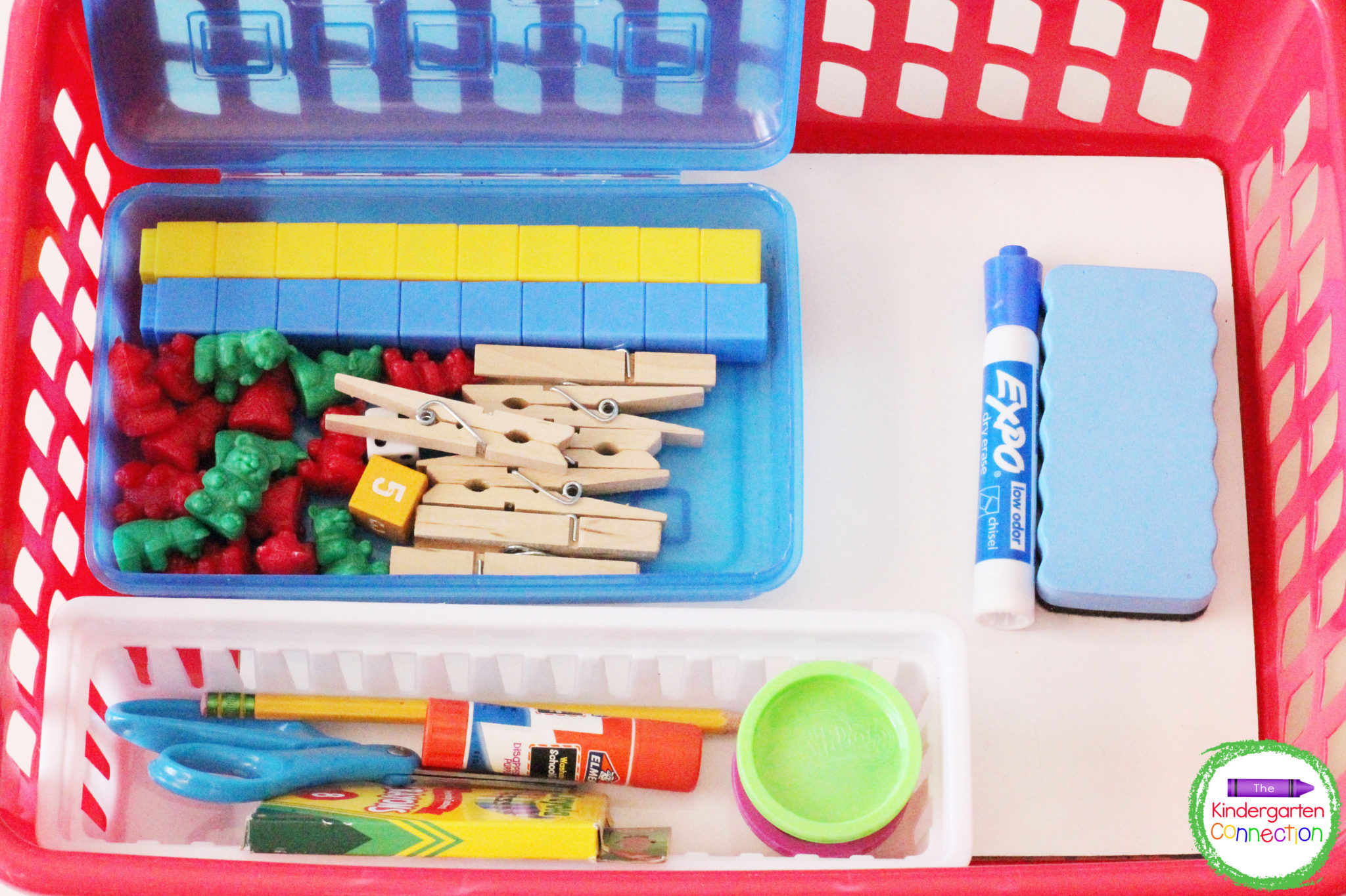 To minimize movement in the classroom, provide all the daily supplies needed in your student supply bins.