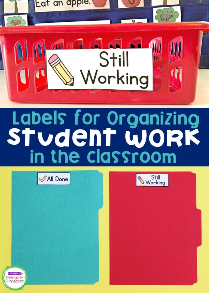 Grab these free labels for organizing student in work in the classroom. You will love how low-prep and super useful they are!