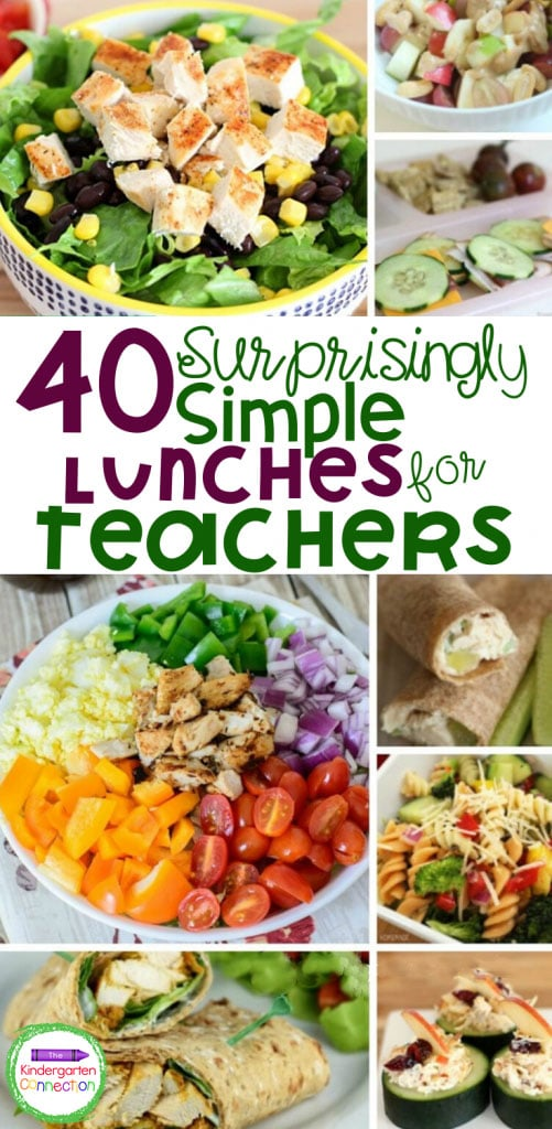 This list of 40 teacher lunches is perfect to keep on hand for back to school season or anytime. Make packing a teacher lunch for school easy!