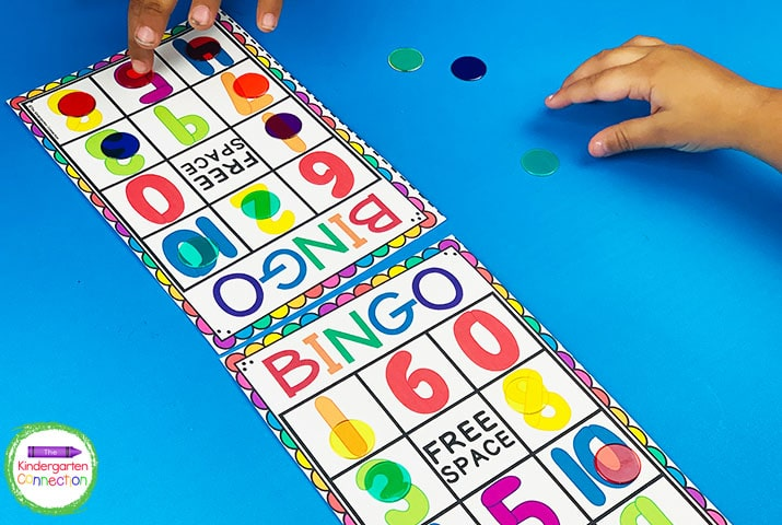 Your students will love playing Number Bingo and this resource includes two sets to choose from.