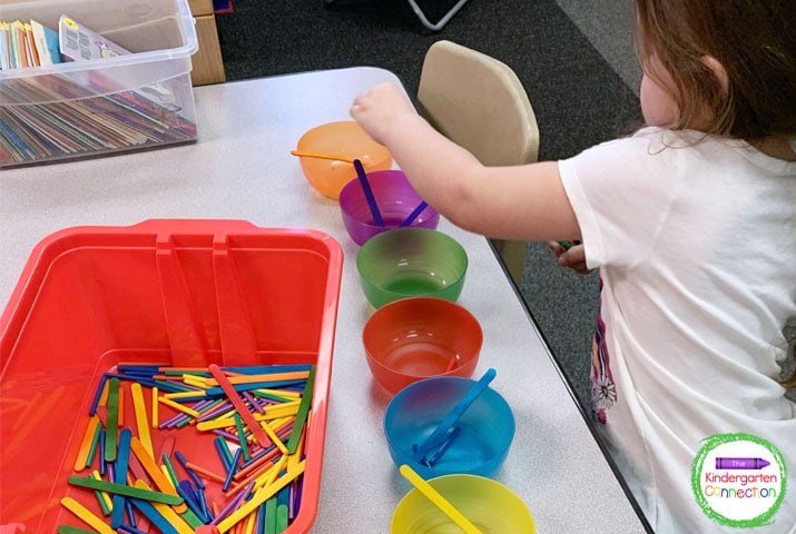 Going slow and setting clear expectations allows students to be successful in all activities including center time.