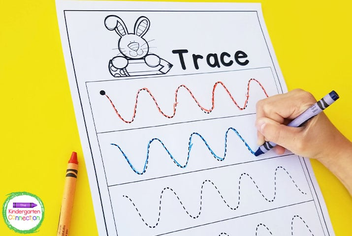 Using fun items like crayons or markers make this activity even more engaging and exciting.