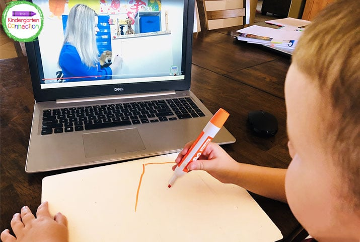 Assign these video lessons for Kindergarten to your students at home and they can follow right along!
