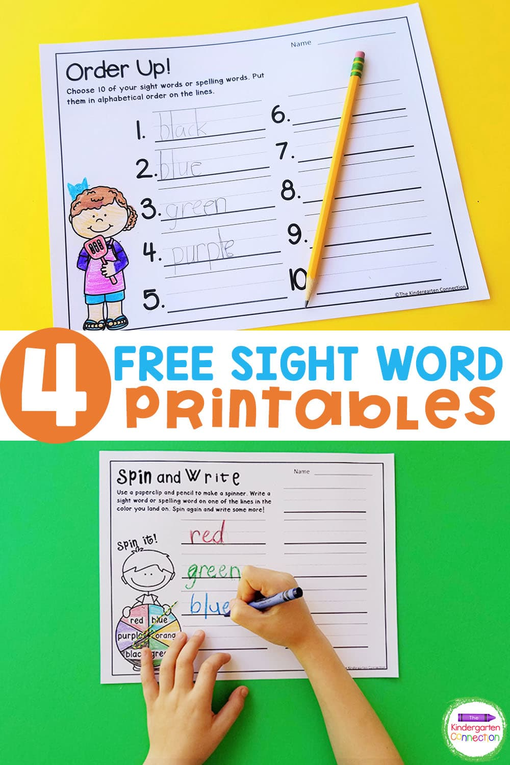These Free Sight Word Printable Games are a fun way to practice reading in a hands-on and engaging way.