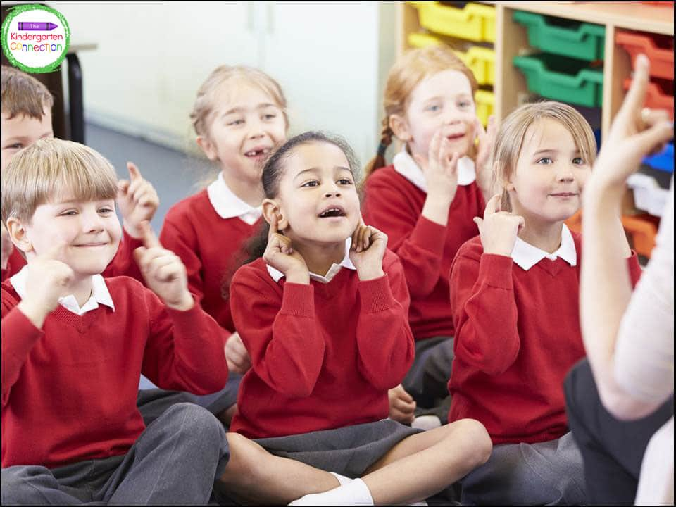 Kindergarten teachers can turn anything into a song and often find themselves singing them at home.