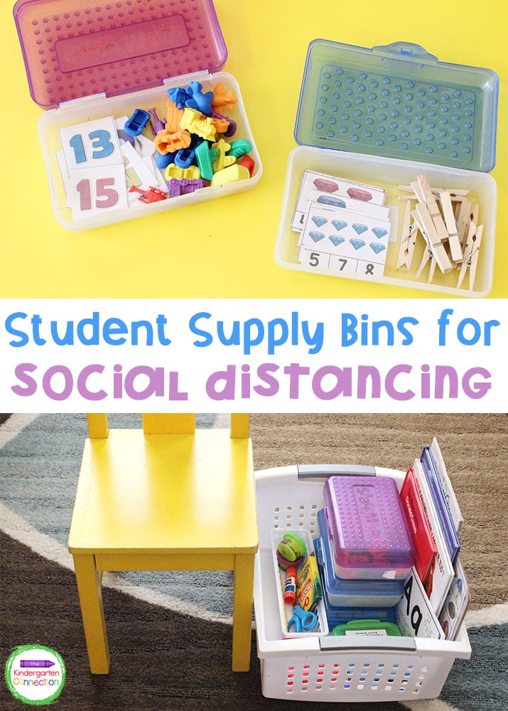 Student Supply Bins for Social Distancing are a great way to incorporate hands-on learning while staying safely distanced in the classroom!