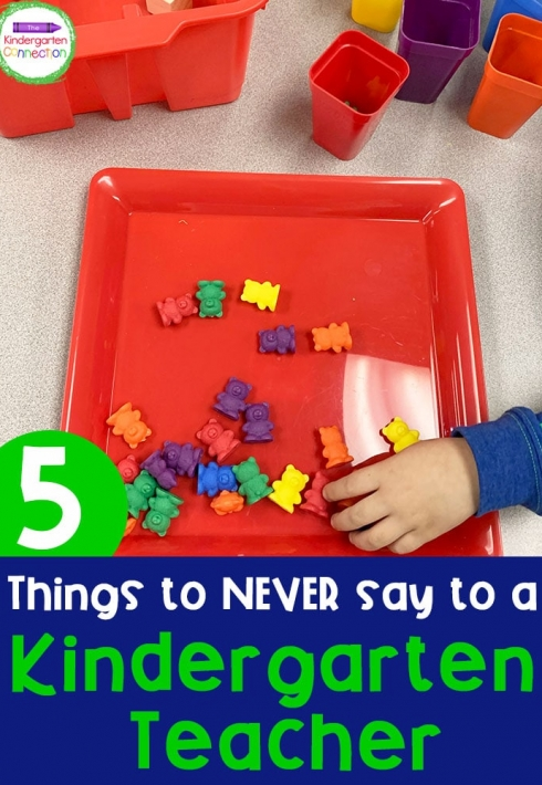 Things to Never Say to a Kindergarten Teacher