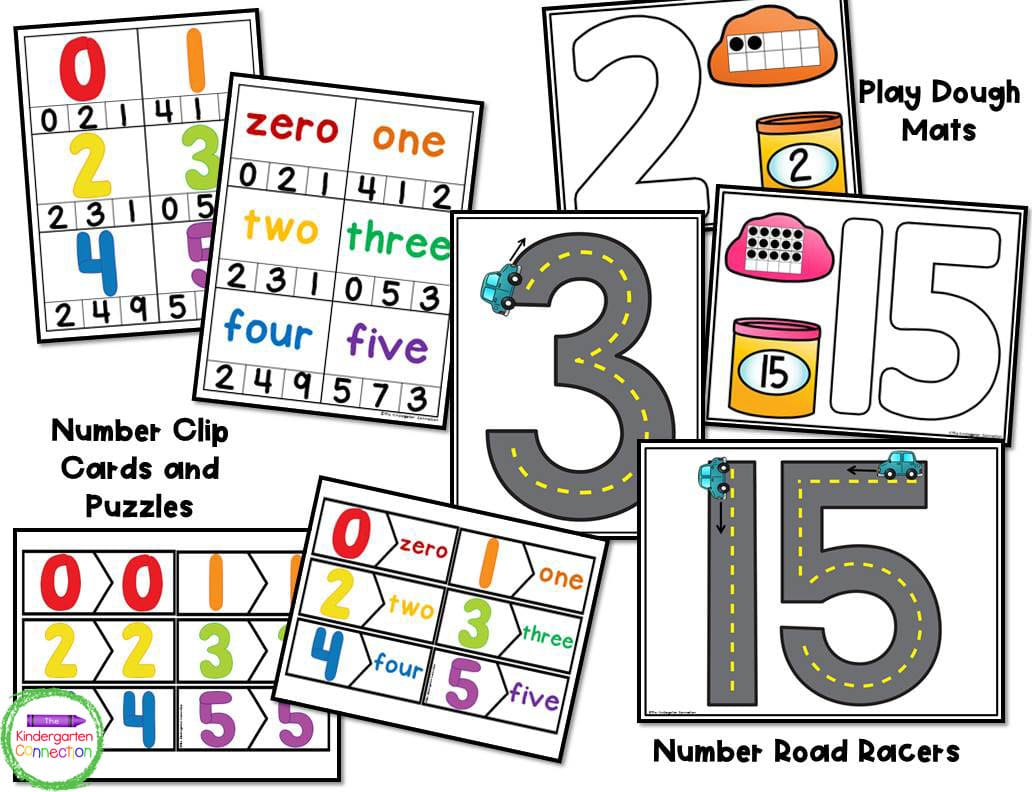 This Number Centers pack includes over 20 engaging activities.