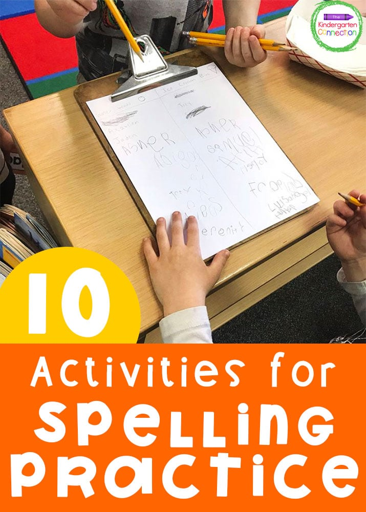 These 10 simple activities to practice spelling at home will help your child become a better speller and build their confidence!