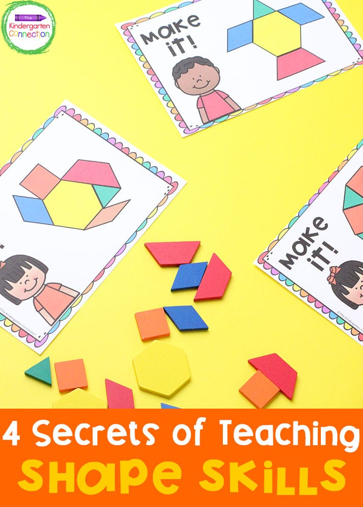 Exploring concepts with shapes is one way that kids learn geometry but check out these other tips for developing shape knowledge and skills!
