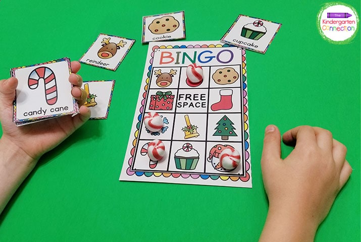 This holiday bingo game is a great way introduce holiday words and vocabulary!