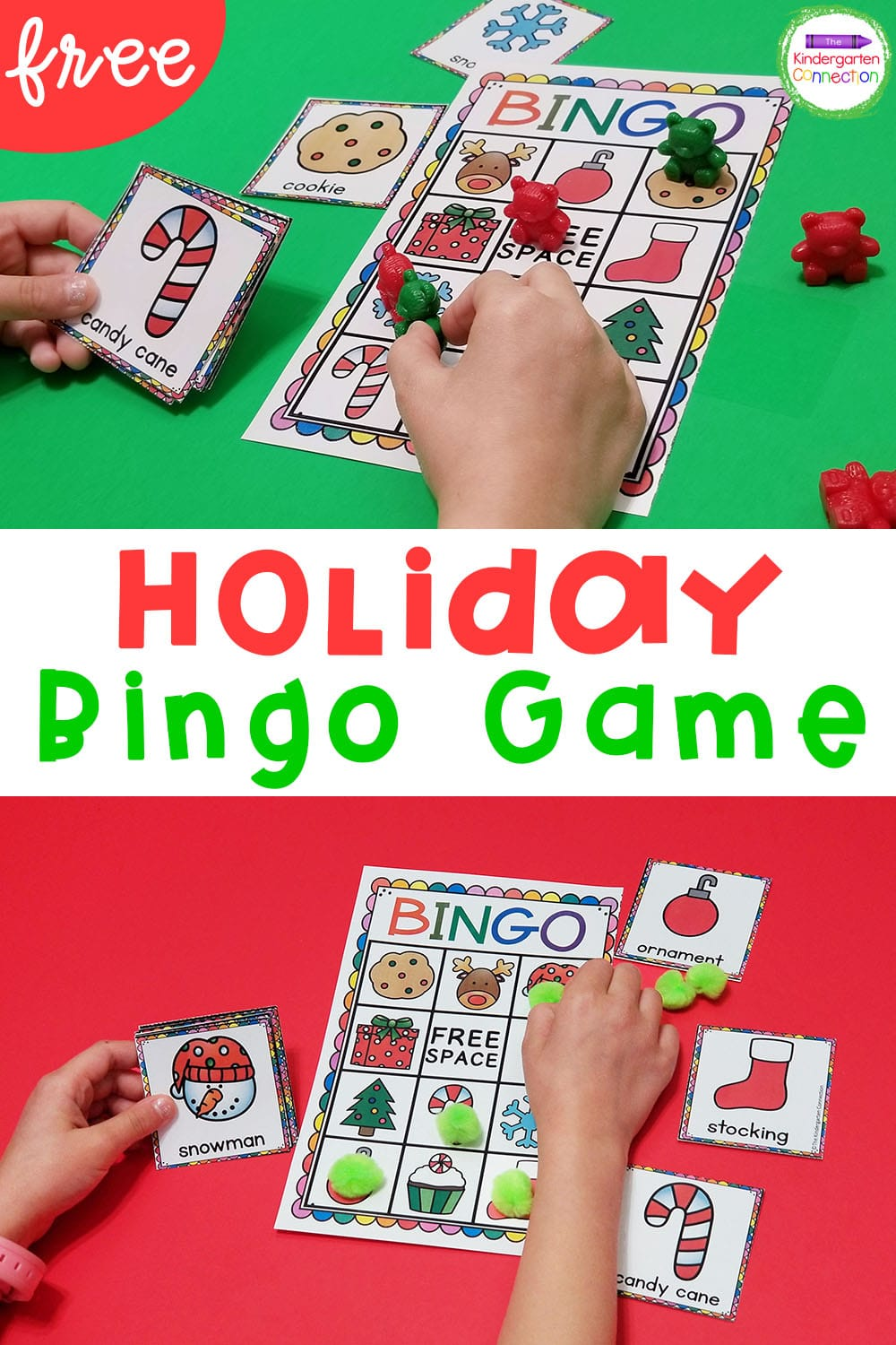 Add some festive fun to your Pre-K & Kindergarten parties or your daily activities with this FREE Holiday Bingo game for the classroom!