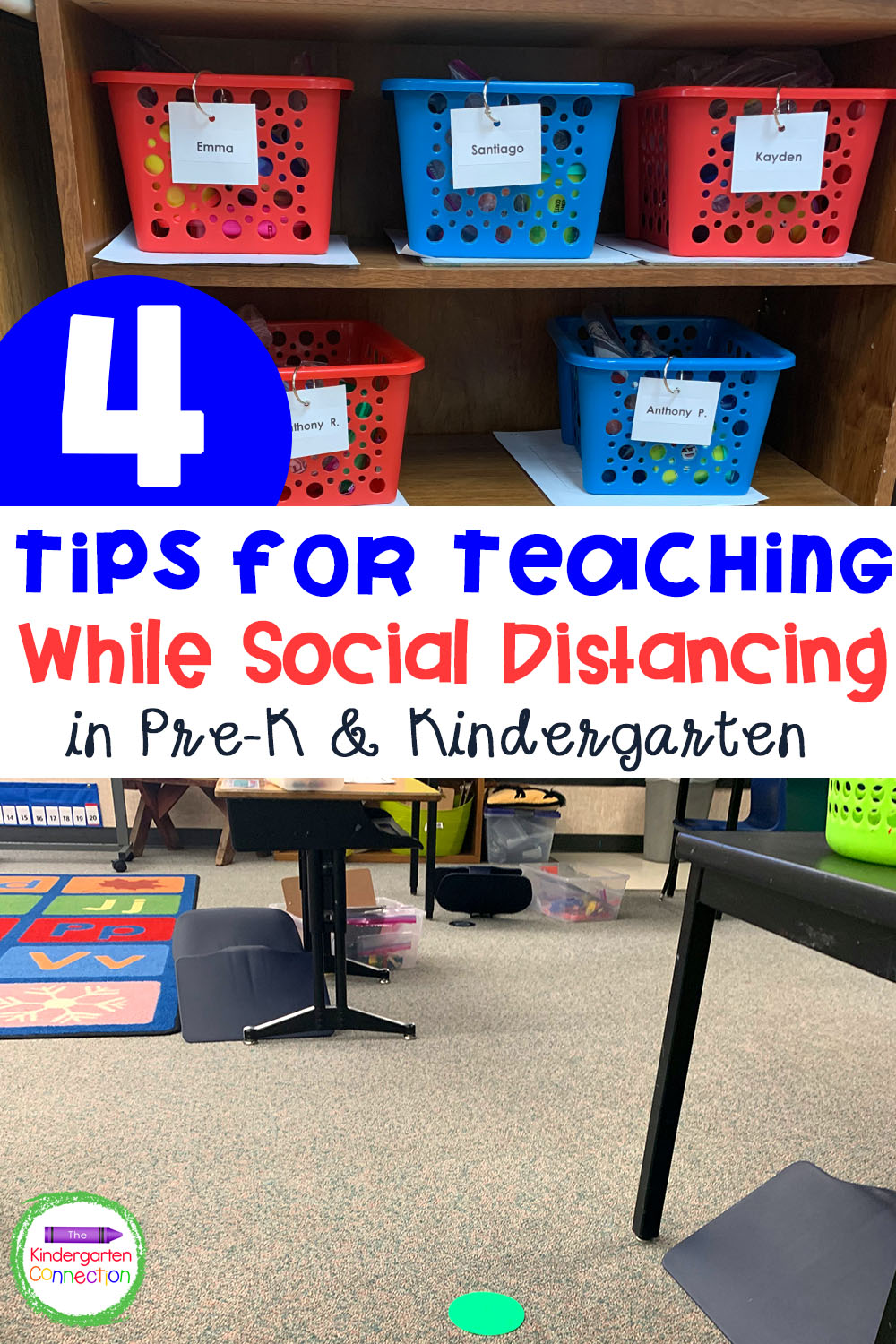 Check out these helpful Tips for Teaching with Social Distancing perfect for Pre-K and Kindergarten classrooms!