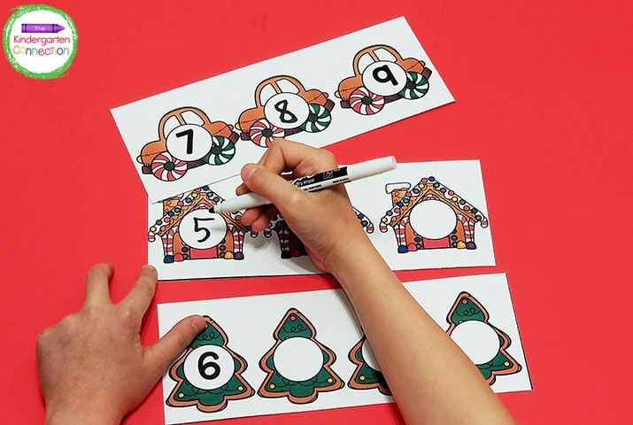 I recommend laminating these cards so that they can be used repeatedly with dry erase markers.