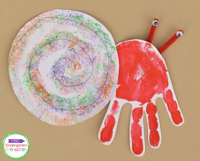 This simple hermit crab craft is also an adorable handprint keepsake.