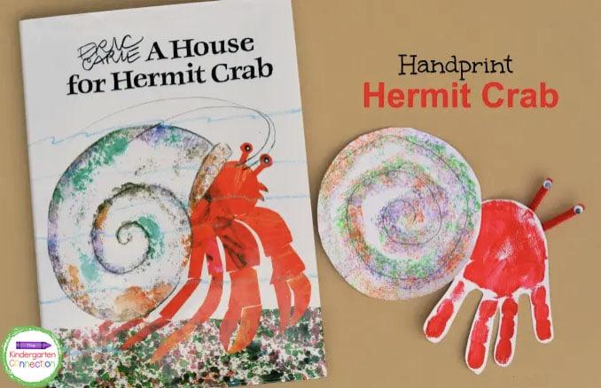 Handprint Hermit Crab Craft The Kindergarten Connection