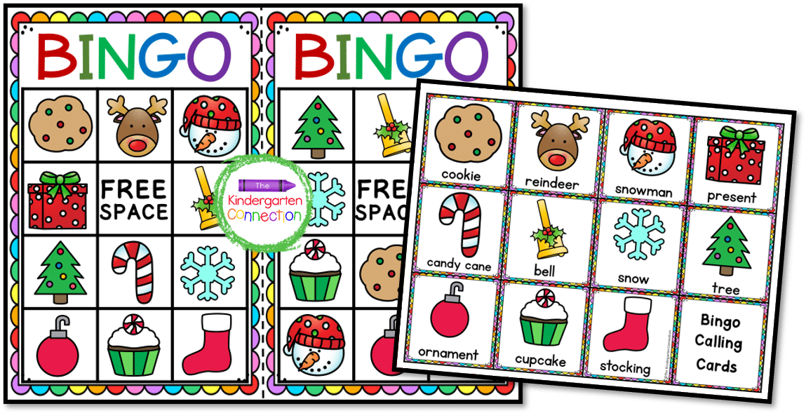These cute, holiday bingo cards are colorful and fun.