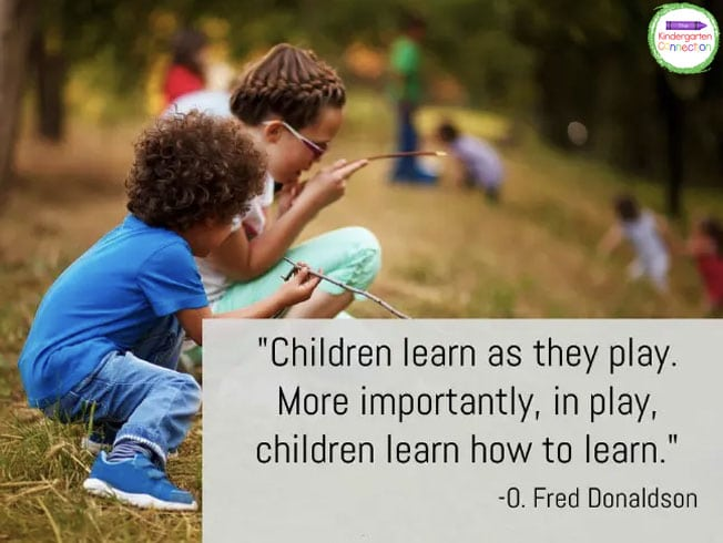 """""""Children learn as they play. More importantly, in play, children learn how to learn."""" - O. Fred Donaldson"""