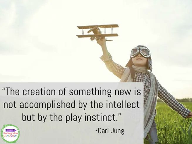 """""""The creation of something new is not accomplished by the intellect but by the play instinct."""" - Carl Jung"""